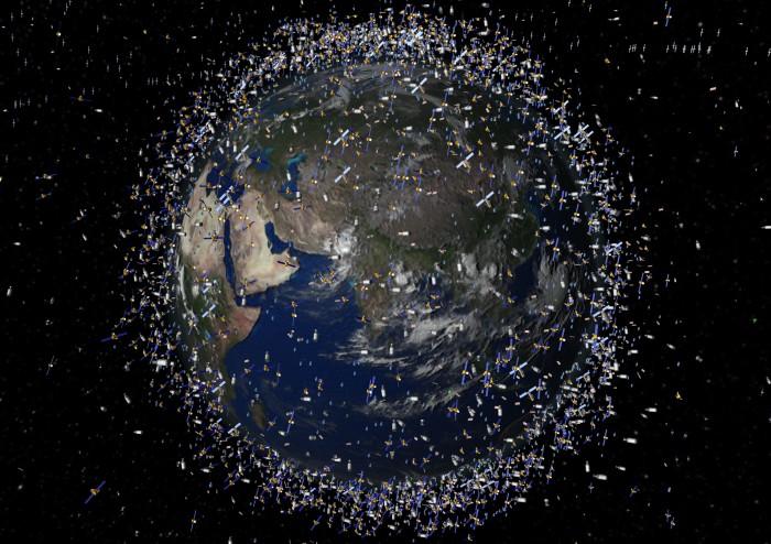space junk orbiting earth